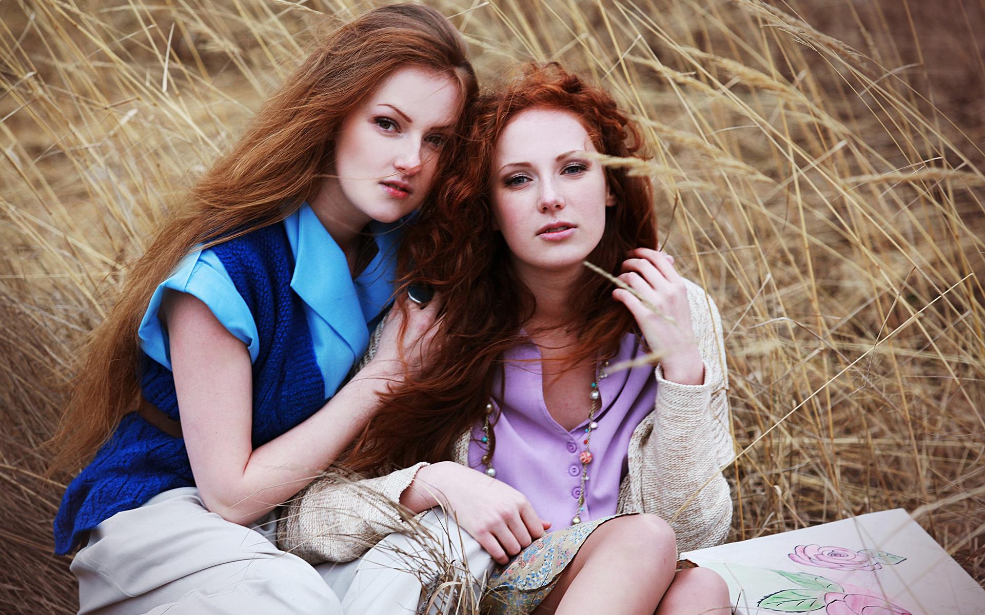 Картинка рыжая и блондинка